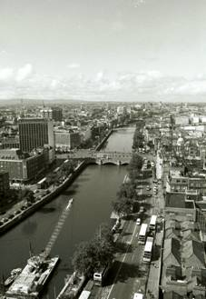 Aerial view of the River Liffey (c)2004 Megan O'Beirne