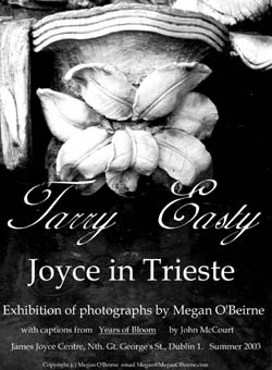 """Tarry Easty - James Joyce in Trieste"" poster - click to enlarge"